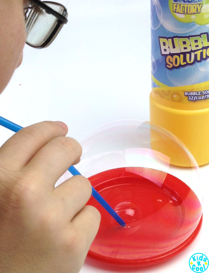 How To Make A BUBBLE INSIDE A BUBBLE! A super fun kids science activity.